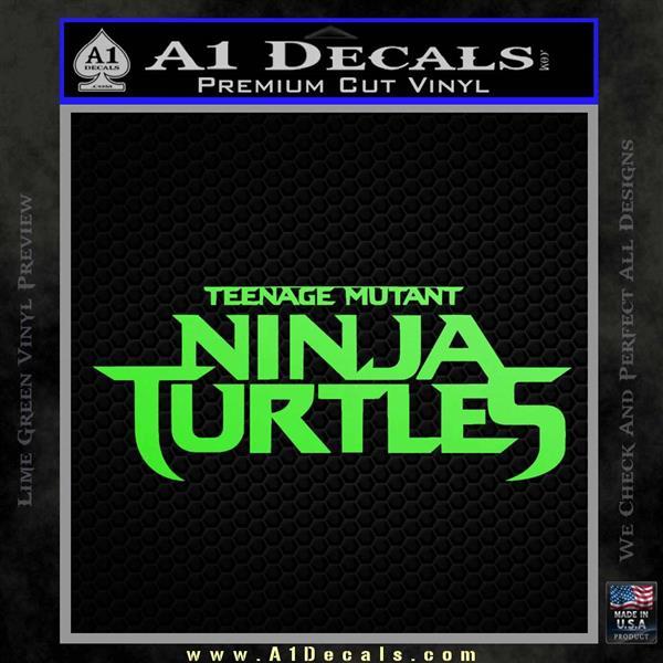 TMNT New Movie Logo Decal Sticker Lime Green Vinyl