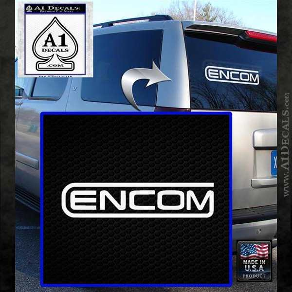 TRON Encom Logo Legacy Decal Sticker White Emblem