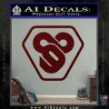 TRON Flynn Lives 89 Symbol Legacy Decal Sticker Dark Red Vinyl 120x120