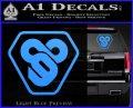 TRON Flynn Lives 89 Symbol Legacy Decal Sticker Light Blue Vinyl 120x97