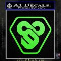 TRON Flynn Lives 89 Symbol Legacy Decal Sticker Lime Green Vinyl 120x120