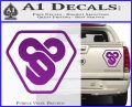 TRON Flynn Lives 89 Symbol Legacy Decal Sticker Purple Vinyl 120x97