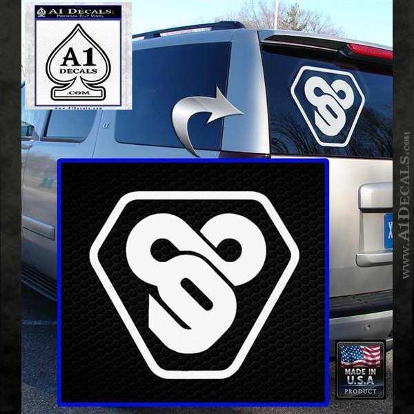 TRON Flynn Lives 89 Symbol Legacy Decal Sticker White Emblem
