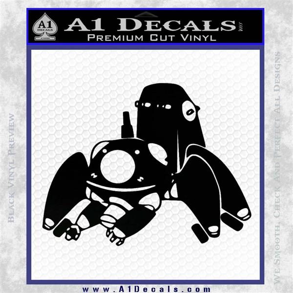Tachikoma D1 Decal Sticker Ghost In The Shell Black Logo Emblem