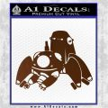 Tachikoma D1 Decal Sticker Ghost In The Shell Brown Vinyl 120x120