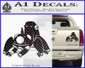 Tachikoma D1 Decal Sticker Ghost In The Shell Carbon Fiber Black 120x97