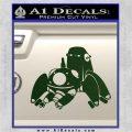 Tachikoma D1 Decal Sticker Ghost In The Shell Dark Green Vinyl 120x120