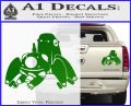 Tachikoma D1 Decal Sticker Ghost In The Shell Green Vinyl 120x97