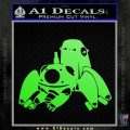 Tachikoma D1 Decal Sticker Ghost In The Shell Lime Green Vinyl 120x120