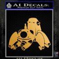 Tachikoma D1 Decal Sticker Ghost In The Shell Metallic Gold Vinyl Vinyl 120x120