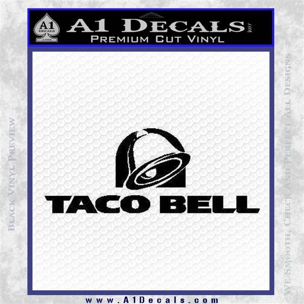 Taco Bell Decal Sticker Logo Black Logo Emblem