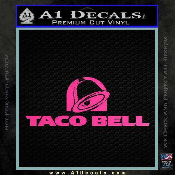 Taco Bell Decal Sticker Logo 187 A1 Decals