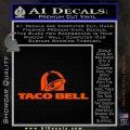 Taco Bell Decal Sticker Logo Orange Vinyl Emblem 120x120