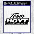 Team Hoyt Archery Decal Sticker DIS Black Logo Emblem 120x120