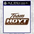 Team Hoyt Archery Decal Sticker DIS Brown Vinyl 120x120