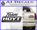 Team Hoyt Archery Decal Sticker DIS Carbon Fiber Black 120x97