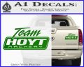 Team Hoyt Archery Decal Sticker DIS Green Vinyl 120x97