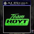 Team Hoyt Archery Decal Sticker DIS Lime Green Vinyl 120x120