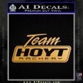 Team Hoyt Archery Decal Sticker DIS Metallic Gold Vinyl 120x120