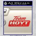 Team Hoyt Archery Decal Sticker DIS Red Vinyl 120x120