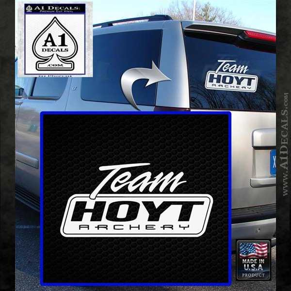 Team Hoyt Archery Decal Sticker DIS White Emblem