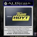 Team Hoyt Archery Decal Sticker DIS Yelllow Vinyl 120x120
