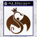Tech N9ne Strange Music Logo Decal Sticker Brown Vinyl 120x120