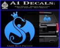 Tech N9ne Strange Music Logo Decal Sticker Light Blue Vinyl 120x97