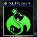 Tech N9ne Strange Music Logo Decal Sticker Lime Green Vinyl 120x120