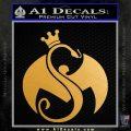 Tech N9ne Strange Music Logo Decal Sticker Metallic Gold Vinyl Vinyl 120x120