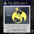 Tech N9ne Strange Music Logo Decal Sticker Yelllow Vinyl 120x120