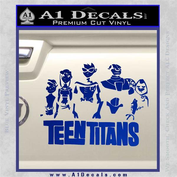 Teen Titans Logo Decal Sticker 187 A1 Decals