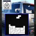Tetris Decal Sticker D1 White Emblem 120x120