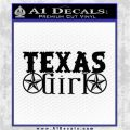 Texas Girl Decal Stickers Stars CR Black Logo Emblem 120x120