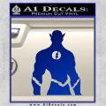 The Flash Silhouette Vinyl Decal Sticker Blue Vinyl 120x120