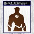 The Flash Silhouette Vinyl Decal Sticker Brown Vinyl 120x120