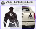 The Flash Silhouette Vinyl Decal Sticker Carbon Fiber Black 120x97
