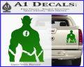 The Flash Silhouette Vinyl Decal Sticker Green Vinyl 120x97