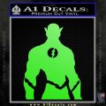 The Flash Silhouette Vinyl Decal Sticker Lime Green Vinyl 120x120