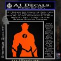 The Flash Silhouette Vinyl Decal Sticker Orange Vinyl Emblem 120x120