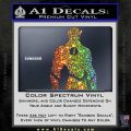 The Flash Silhouette Vinyl Decal Sticker Sparkle Glitter Vinyl 120x120