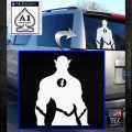 The Flash Silhouette Vinyl Decal Sticker White Emblem 120x120