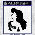The Little Mermaid Ariel Profile Decal Sticker Black Logo Emblem 120x120