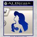 The Little Mermaid Ariel Profile Decal Sticker Blue Vinyl 120x120