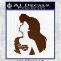 The Little Mermaid Ariel Profile Decal Sticker Brown Vinyl 120x120