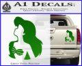 The Little Mermaid Ariel Profile Decal Sticker Green Vinyl 120x97