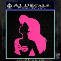 The Little Mermaid Ariel Profile Decal Sticker Hot Pink Vinyl 120x120