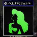 The Little Mermaid Ariel Profile Decal Sticker Lime Green Vinyl 120x120
