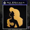 The Little Mermaid Ariel Profile Decal Sticker Metallic Gold Vinyl Vinyl 120x120