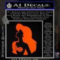 The Little Mermaid Ariel Profile Decal Sticker Orange Vinyl Emblem 120x120